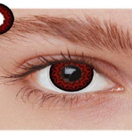 Røde kontaktlinser OT2WI
