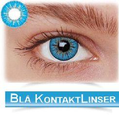 Blå kontaktlinser