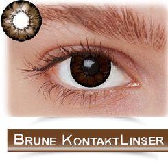Brune kontaktlinser