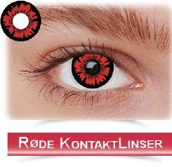 Røde kontaktlinser