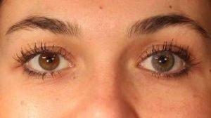 farvede linser til mørke øjne - grå farve kan også være en mulighed - PS3GR grå kontaktlinse i brunt øje